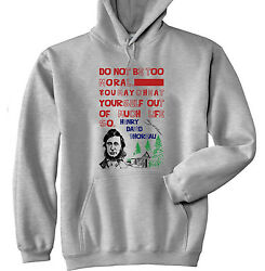 HENRY THOREAU MORAL QUOTE - NEW COTTON GREY HOODIE