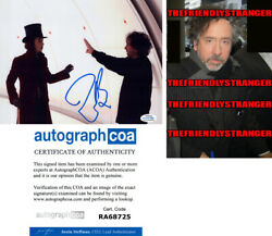 Tim Burton Signed Charlie And Chocolate Factory 8x10 Photo Proof - Director Acoa