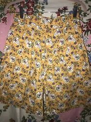 Vintage Anne Marie Les Olivades Floral Shorts Rate Beautiful Pattern Cotton 26