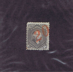 Scott 99 Used 24c Washington Red Numeral 20 Rate Marking Cancel Pf Cert.
