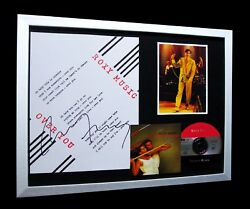 Roxy Music+bryan Ferry+signed+framed+over You=100 Authentic+express Global Ship