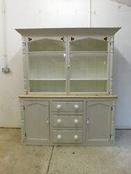 Large Victorian West Country Old Antique Pine Dresser Drawers Kitchen Cupboard
