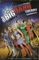 Big Bang Theory Cast Signed 2011 Sdcc Poster Cuoco Galecki Helberg Parsons Rauch