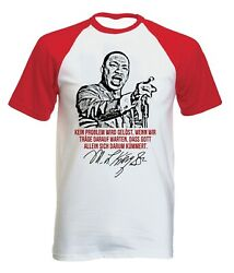 Martin Luther King Kein Problem - NEW COTTON BASEBALL TSHIRT ALL SIZES