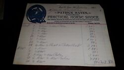 1893 East St Louis Illinois Billhead Patrick Hayes Practical Horseshoer