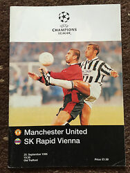 Manchester United V Rapid Vienna 1996/1997 Uefa Champions League 25 Sep 1996