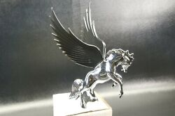 Flying Stallion 40and039s 50and039s Hood Ornament Custom Hot Rod Truck Black Wings
