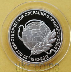 2012 Transnistria Moldova Russian Peacekeeping Mission 1/2 Oz Silver Proof Coin