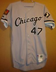 Chicago White Sox Steve Shrenk 1994 Road Gray Button-down Jersey