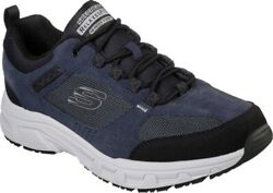 New Mens Skechers Relaxed Fit Oak Canyon Navy Black Suede Sneaker Shoes Genuine