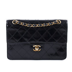 Chanel Vintage Classic Patent Leather Small Flap Bag $2,780.00