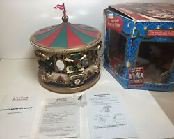 Mr. Christmas Holiday Carousel Animated Musical Merry Go Round 21 Songs Lights