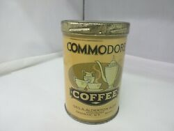 Vintage Advertising Commodore Brand Coffee Tin Can Graphics 124-p