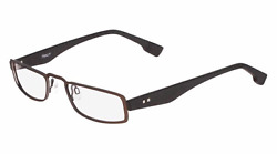 New FLEXON Reading Glasses E1101 210 Matte Brown &Black Frames Half-Eyes Readers