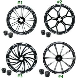 18and039and039 21and039and039 23and039and039 26and039and039 Front Wheel Rim Dual Disc W/ Hub Fit For Harley Touring 08+