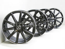 Mercedes S-Class Genuine AMG Forged Black Wheels Set C217 W222 2013 and UP New