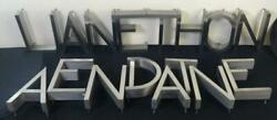 Fabulous Lot Of 17 Vintage Art Deco Style Stainless Steel Channel Letters 12