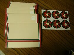 3425 Lot 9 Vntg Holiday Blank Postalettes W Seals Hallmark Writing Papers