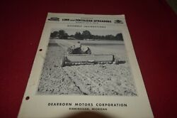 Ford Tractor 20-05 20-6 Lime And Fertilizer Spreader Operator's Manual Mfpa