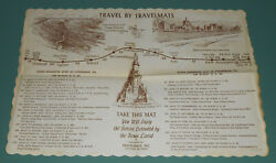 Vintage Gettysburg Pa Soldiers National Monument Diner Table Place Mat Travel