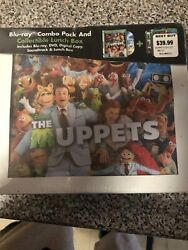 The Muppets Blu-ray / Dvd Collectible Lunch Box Case Best Buy Exclusive Oop Rare