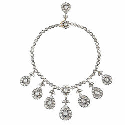 Rose Cut Diamond 14K Gold Silver Choker Necklace Indian Ethnic Wedding Jewelry