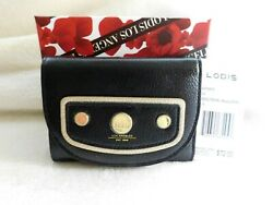 Lodis Pismo Pearl Mallory French Purse RFID Black + Metallic Accent NWT MSRP $72