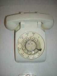 Vintage Western Electric Atandt Bell Rotary Dial White Retro Desk Phone