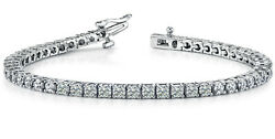 Tennis Bracelet Solid Gold - 5.00 Ct Natural Untreated Diamond Sale
