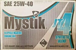 Mystik Jt-4 Synthetic Blend 4-cycle 25w40 Marine Engine Oil Case Of 12 - 32ozand039s
