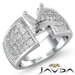 1.74ct Diamond Classic Engagement Womenand039s Ring Princess Invisible Setting