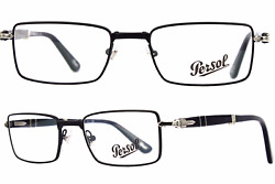 New Folding Reading Persol Eyeglasses 2425-V 1040 Dark Blue & Silver Frames