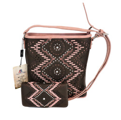 Concealed Carry Purse Wallet Lacing Aztec Western Montana West Crossbody Bag $57.59