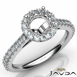 1ct. Classic Halo Round Natural Diamond Engagement Double Prong Semi Mount Ring