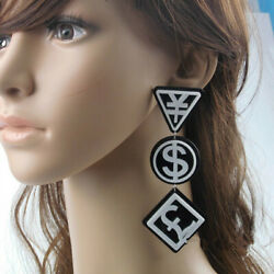Fashion Women Nightclub DJ Ear Acrylic Drop Hip-hop earrings Jewelry Gift