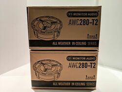 Brand New Monitor Audio Awc280-t2 Outdoor Speaker X 2 Units