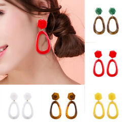 Fashion Women Ear geometric Acrylic Resin Drop Dangle Stud Earrings Jewelry Gift