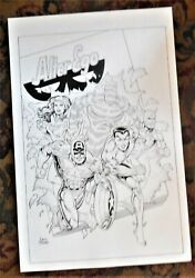 All-winners Squad Cover Unused Alter Ego Dave Hoover Marvel Invaders