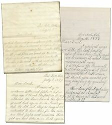 Phillips / Three Autograph Letters Signed To Her Aunt About Family Life
