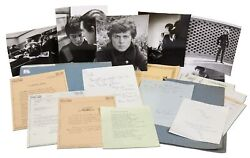 Collection of Letters Photographs and Poetry from 18-Year-Old Marc Bolan  1965
