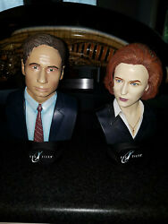 Extremely Rare The X Files Mulder And Scully Figurine Le 5000 Bust Statue Set