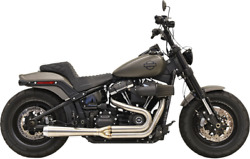Bassani Road Rage Exhaust For 2018-19 Fat Bob / Slim - Stainless Steel - 1s92ss