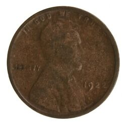 Raw 1922-d Lincoln 1c Uncertified Ungraded Denver Mint Copper Small Cent Coin
