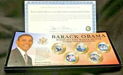 Barack Obama Road To The White House Commemorative Coins Colorized