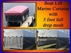 Replacement Boat Lift Canopy Cover / Marine Curtain Skirt / Shorestation 24x120