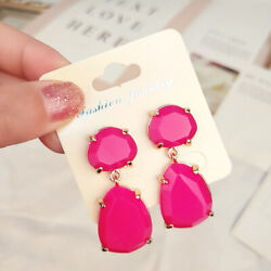 Fashion Women Acrylic Resin Drop Dangle Ear Studs Earrings jewelry Gift