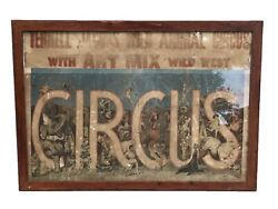 20th C Terrell Jacobs Wild Animal Antique Circus Colored Advertising Poster