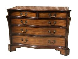 20th C Maitland Smith Chippendale Antique Style Mahogany Dresser / Chest