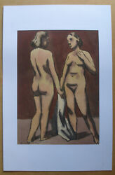 Benny Cohn American.1896 Two Female Nudes. 1930s,