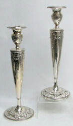 Classic 19th Century American Empire Style Reed And Barton 12 Candlesticks